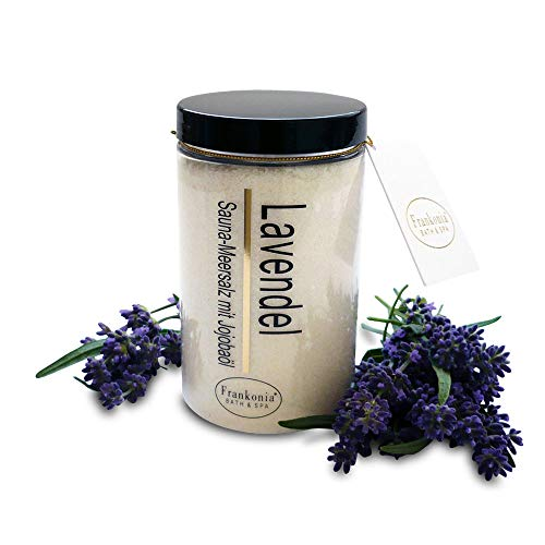 Sauna Salz Peeling – Lavendel 400g - Meersalz m. Jojobaöl Vitamin E...