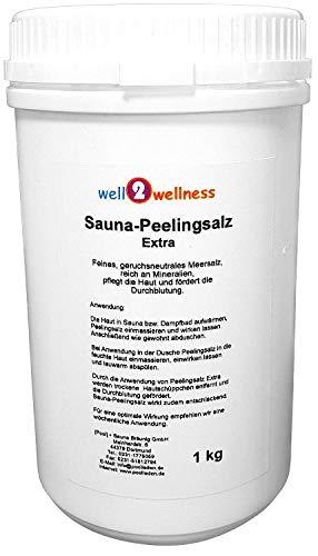Sauna Peelingsalz Extra/Saunasalz fein 1,0 kg - 100% naturrein aus dem...