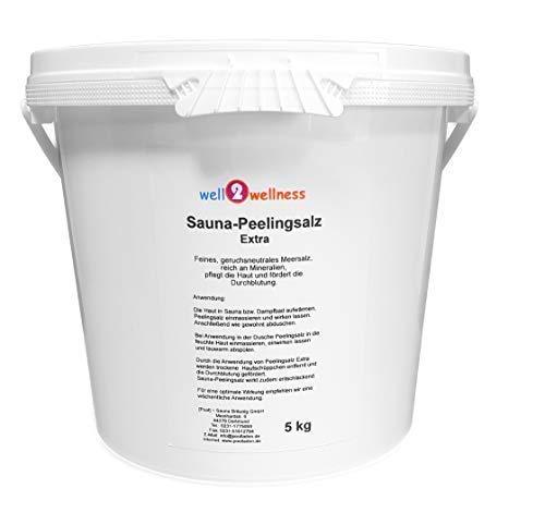 Sauna Peelingsalz Extra/Saunasalz fein 5,0 kg - 100% naturrein aus dem...