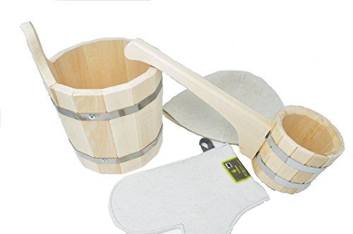 Sortiment Zubehör für Sauna oder Banja Russische - Eimer aus Holz -...