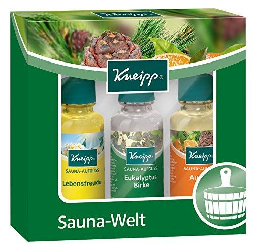 Kneipp Geschenkpackung Sauna-Welt Probierset, 2 x Saunaset (3 x 20 ml)