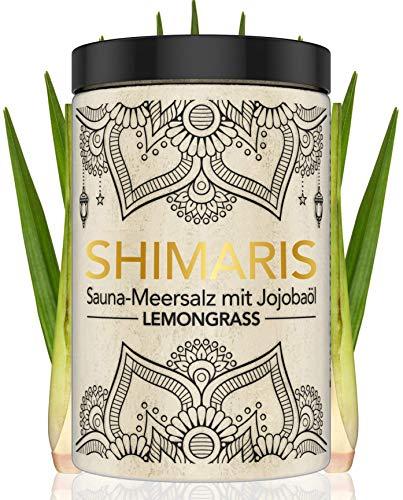 Saunasalz 400g Lemongrass Peeling mit Jojobaöl Peelingsalz für die...