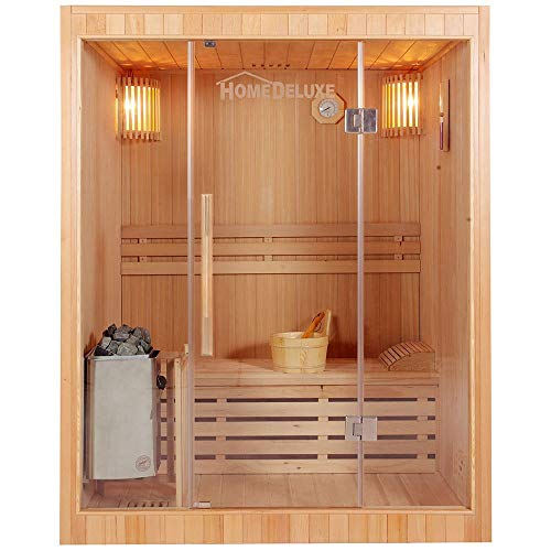 Home Deluxe - Traditionelle Sauna - Skyline L - Holz: Hemlocktanne -...