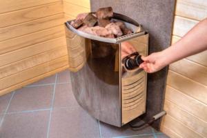 Saunaofen mit Gas betrieben